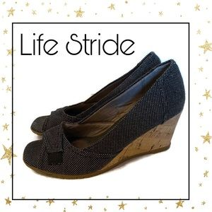 Life Stride Velocity Memory Foam Wedges 8 8M